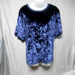 A New Day blue crushed velvet top plus size 2X